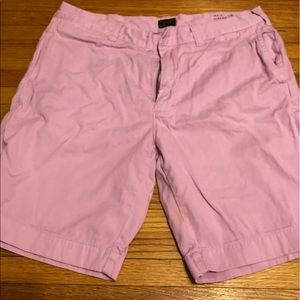 "JCrew Mens 9"" shorts in pink"